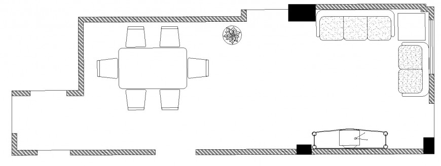 Drawing room of house architecture layout plan cad drawing details dwg file