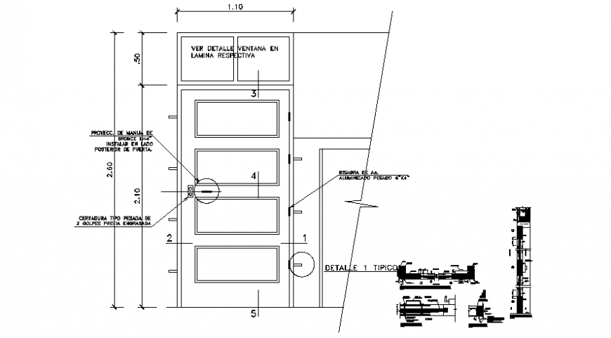 Drawings 2d view of door blocks autocad software file
