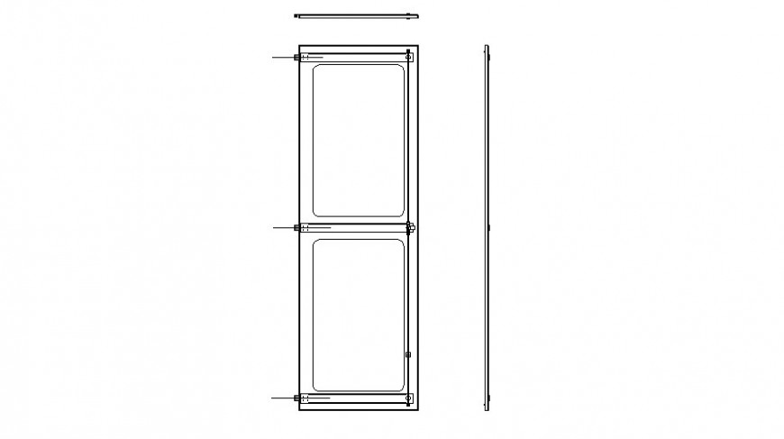 Drawings 2d view of door blocks elevation autocad file