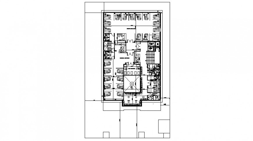 Drawings 2d view of office layout floorplan autocad software file