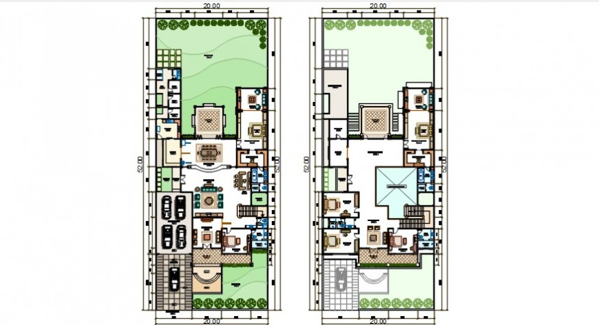 Drawings CAD layout plan of house 2d view autocad file