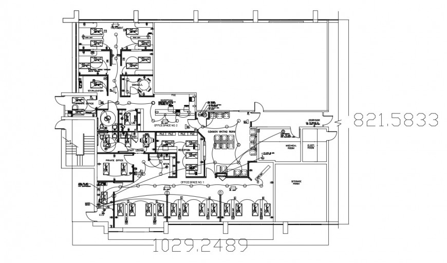 Drawings details of building with electrical layout plan dwg file