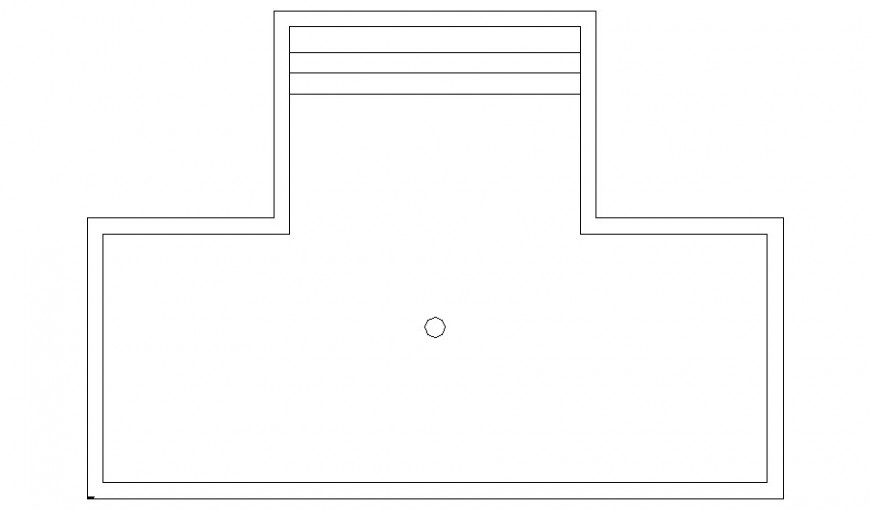 Drawings details 2d view elevation of swimming pool autocad file