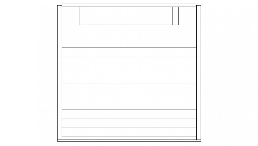 Drawings details 2d view elevation of wardrobe furniture autocad file