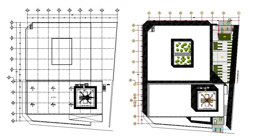 Drawings details 2d view of building units dwg autocad file