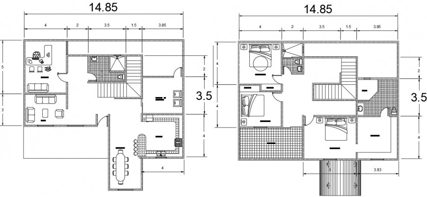 Drawings details of apartment floor plan dwg autocad software file