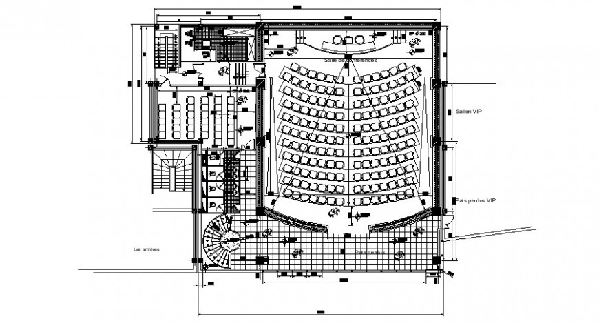 Drawings details of auditorium building units dwg autocad file