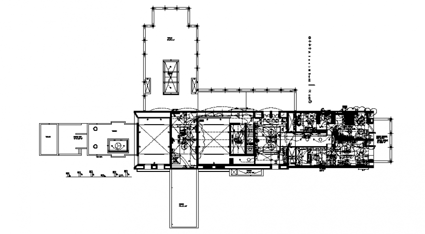 Drawings details of building electrical installation 2d view dwg file