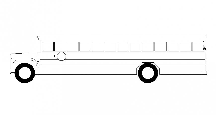 Drawings details of bus blocks elevation vehicle transportation units dwg file