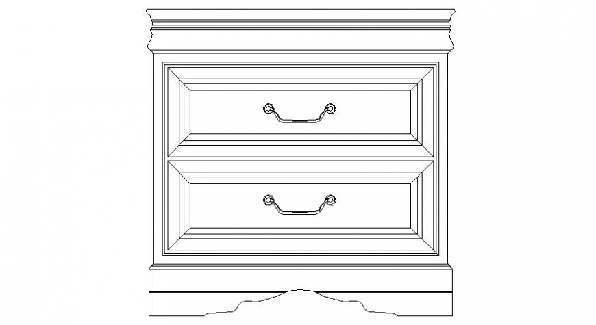 Drawings details of cabinet blocks elevation dwg file