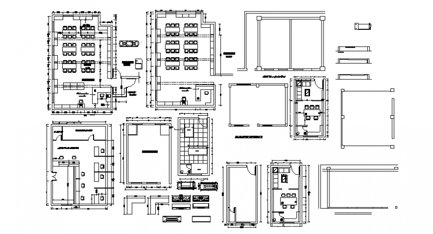 Drawings details of class room plan 2d view dwg autocad file