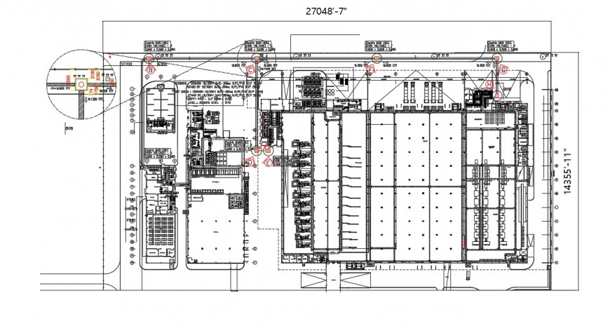Drawings details of commerce building floor plan dwg autocad file