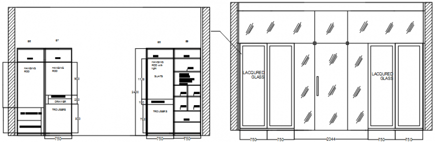 Drawings details of furniture blocks dwg autocad software file
