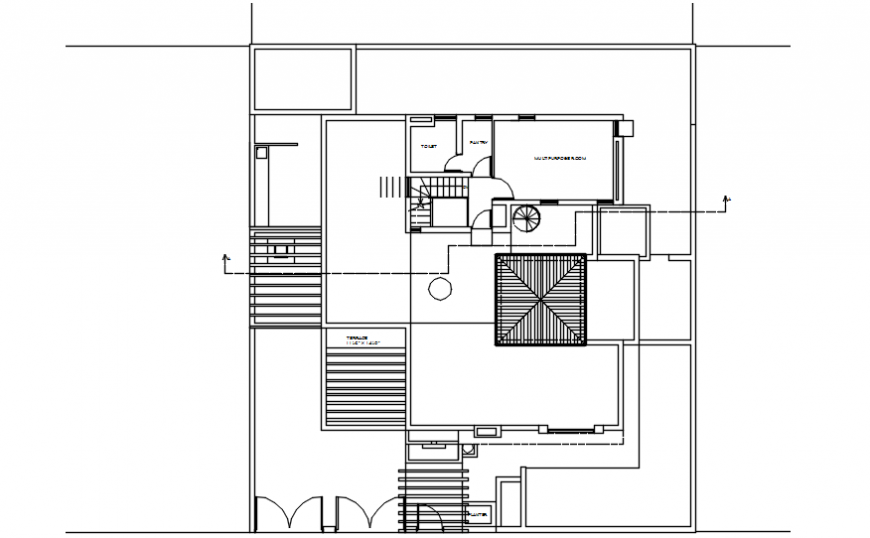 Drawings details of house 2d view layout plan autocad software file
