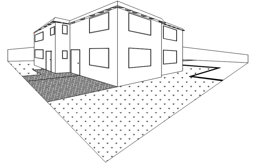Drawings details of housing apartment dwg autocad file