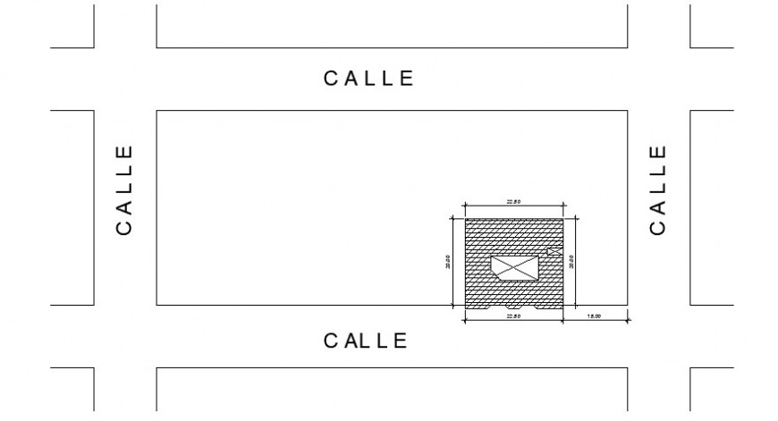 Drawings details of housing area 2d view autocad file