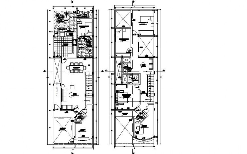 Drawings details of housing bungalow apartment dwg autocad file