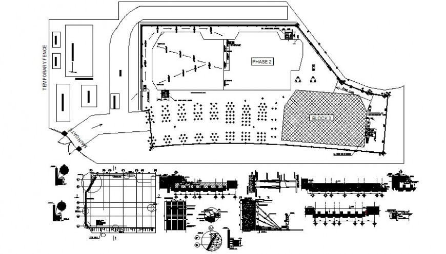 Drawings details of landscaping area 2d view autocad softwrae file