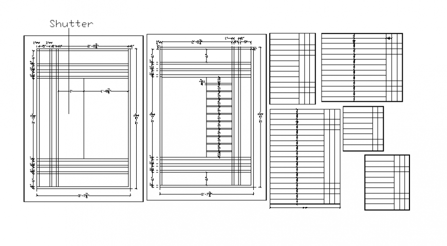 Drawings details of shutter door autocad file
