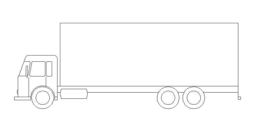 Drawings details of truck transportation units autocad software file