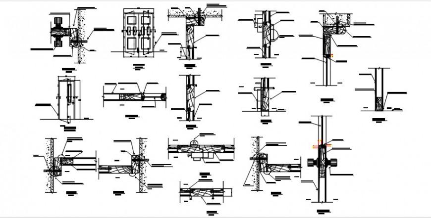Drawings details of window blocks frame dwg autocad file