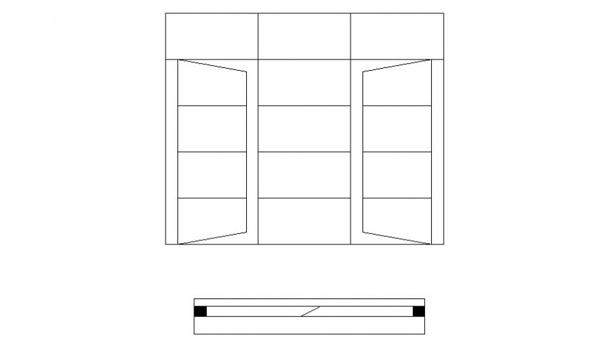 Drawings details of window frame design 2d view autocad line