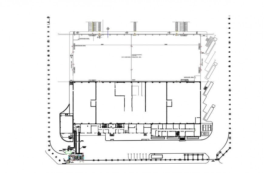 Drawings details plan of commerce building dwg file