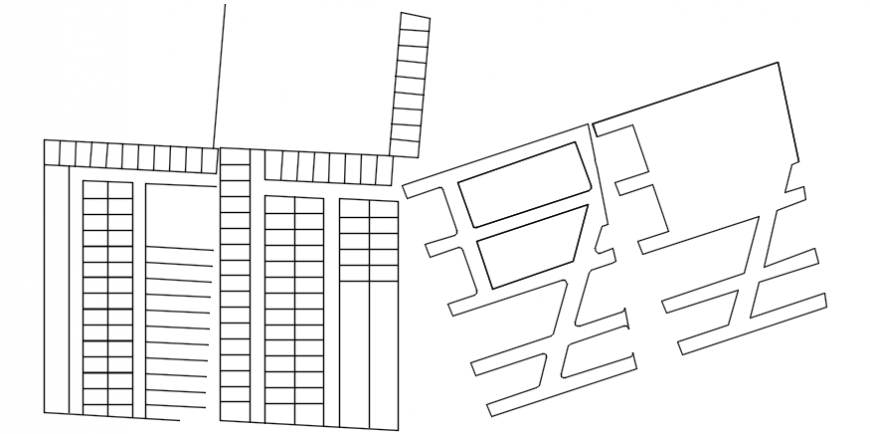 Drawings of an area plot detail 2d view autocad file