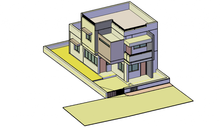 Drawings of apartment 3d model autocad software file