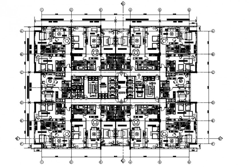 Drawings of housing apartment 2d view plan autocad software file