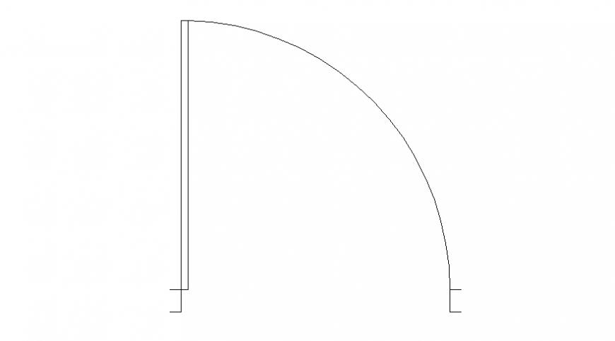 Drawings of single door blocks plan autocad file