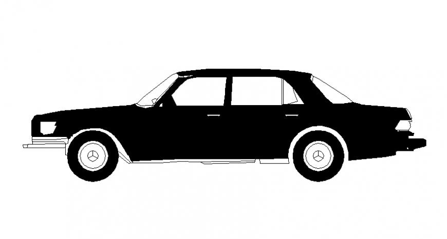 Drawings of vehicle car blocks elevation details in dwg file
