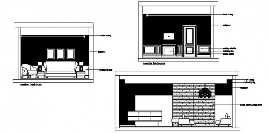 Drawings room furniture blocks CAD elevation room autocad file