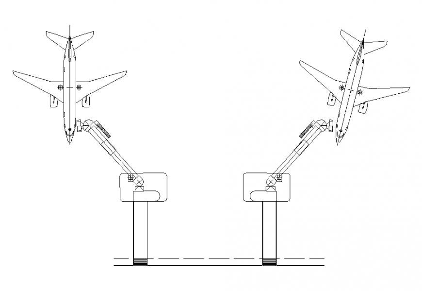 Dual parking of Aero-plane detail layout file