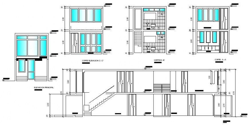 Duplex housing detail working drawing in dwg AutoCAD file.