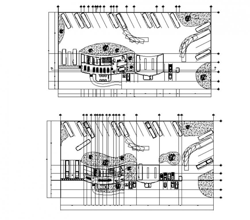 DWG file of bus terminal 2d details