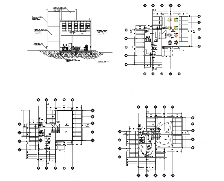DWG file of graduation workshop 2d details AutoCAD file
