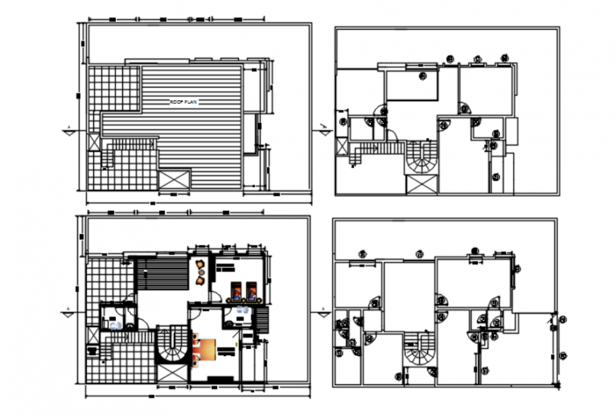 DWG file of house project