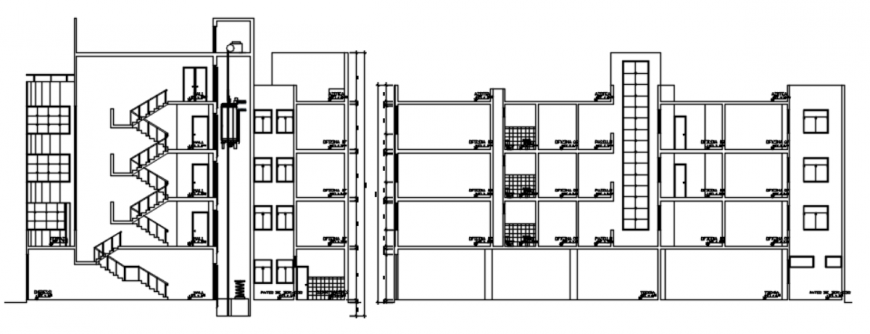 Dwg file of office building Autocad file
