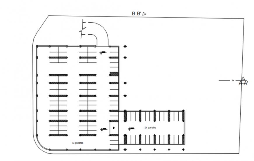 Dwg file of parking plan 2d details AutoCAD file