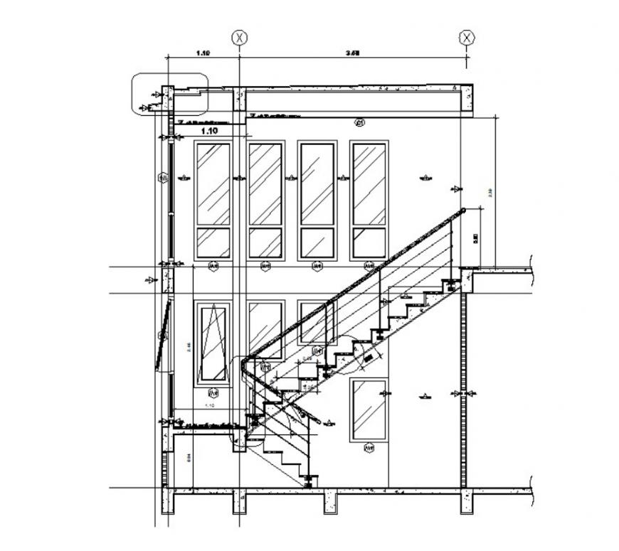 dwg file of the house design 2d detail model