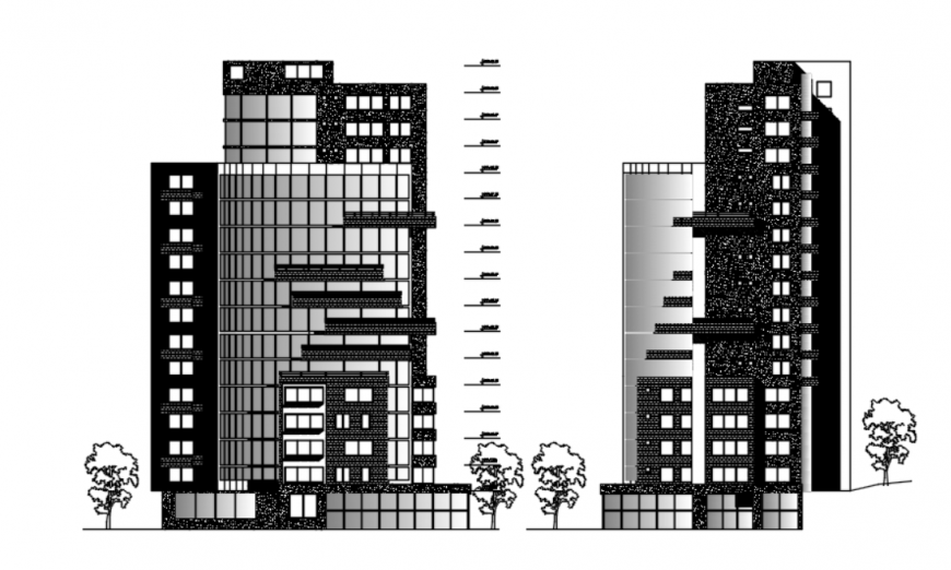 dwg files of high-density housing tower 2d details AutoCAD file