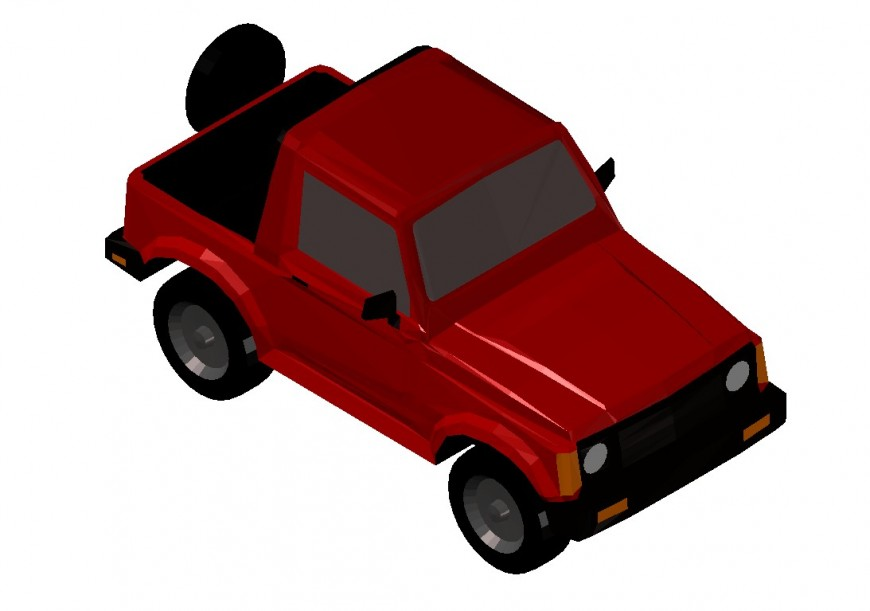 Dynamic 3d jeep car block cad drawing details dwg file