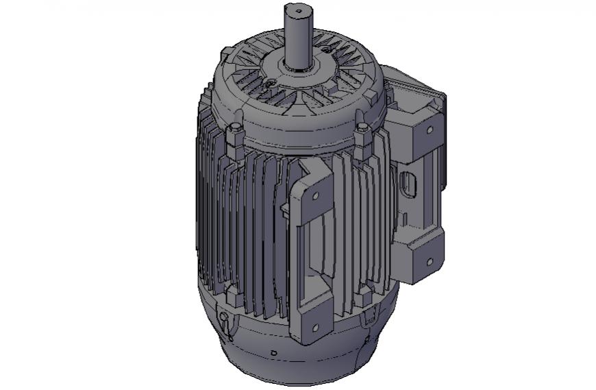Dynamic 3d motor machine drawing dwg file