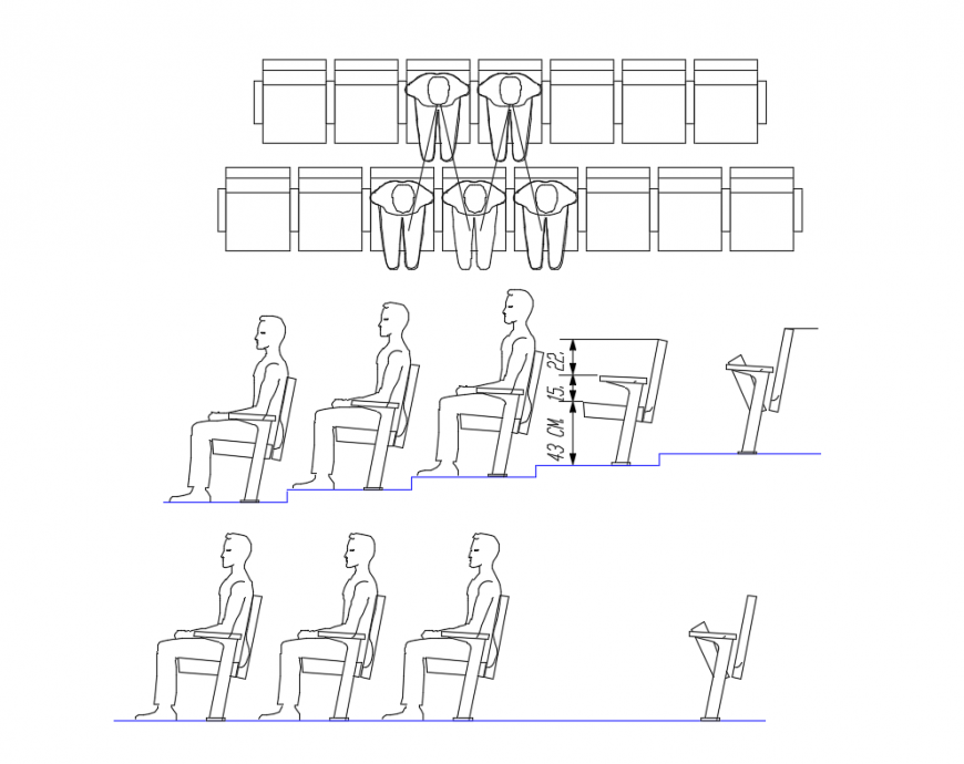 Dynamic conference room chairs blocks cad drawing details dwg file