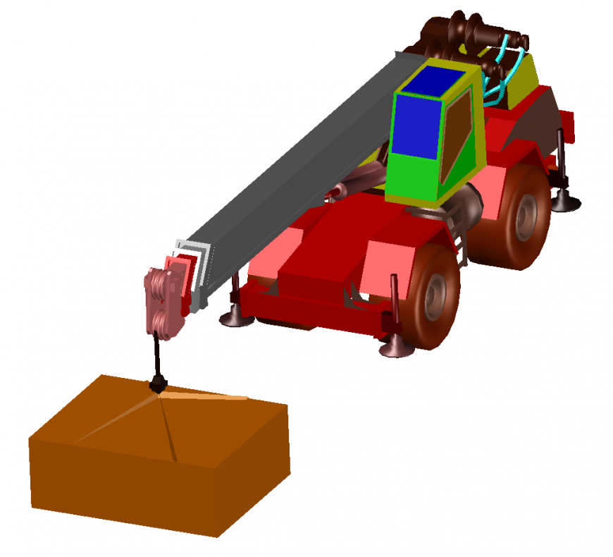 Dynamic constructive 3d vehicle model cad drawing details dwg file