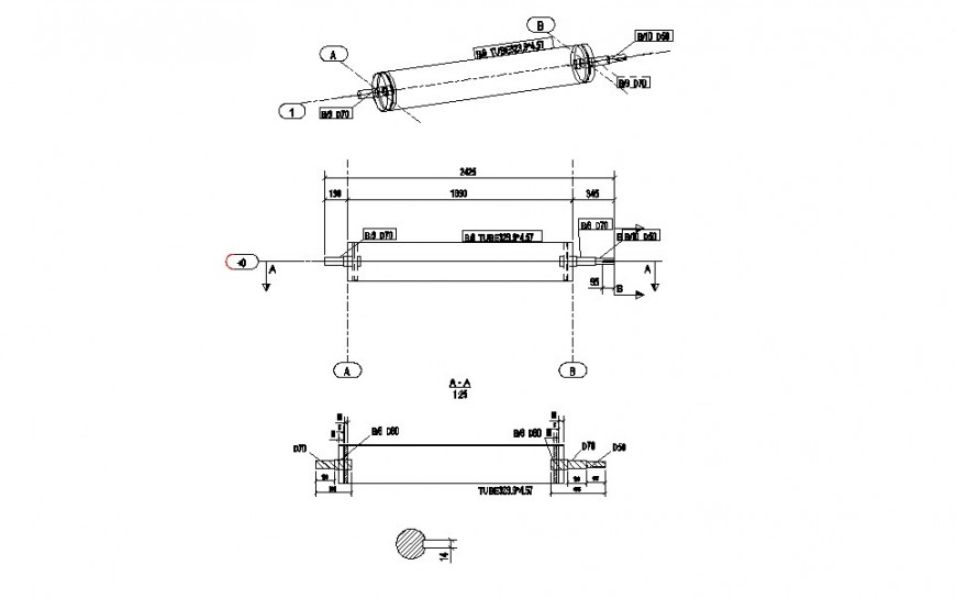 Dynamic conveyor tambour belt plan and drawing details dwg file