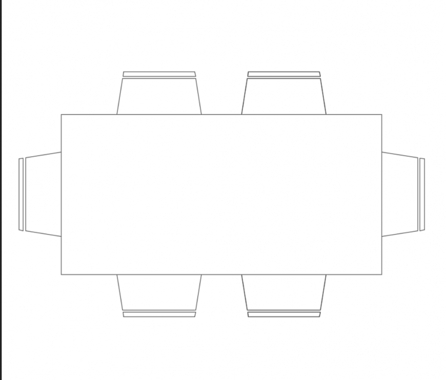 Dynamic dining table with six seats cad block design dwg file