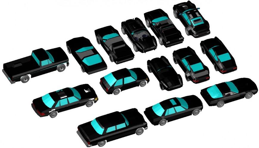 Dynamic family car elevation 3d blocks drawing details dwg file