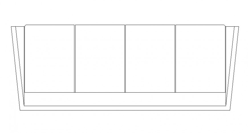 Dynamic four seated sofa set block cad drawing details dwg file